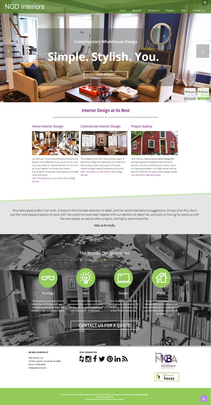 Ngd interiors case study interior design web time4design for Award winning interior design websites