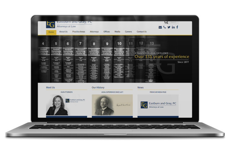 Modern law firm web design