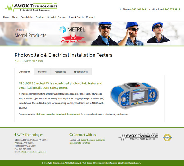 Product Manufacturing Web Design