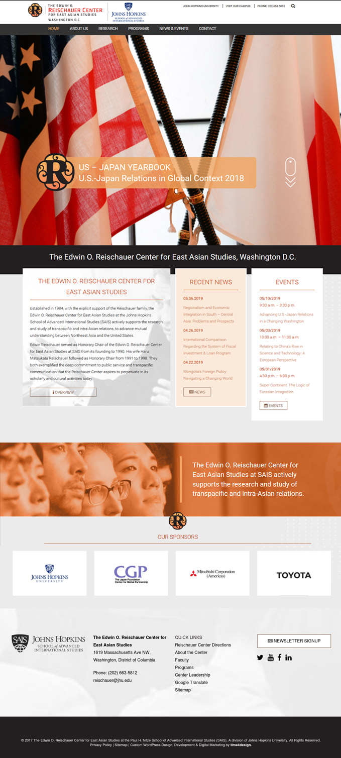 The Edwin O. Reischauer Center for East Asian Studies Website Design