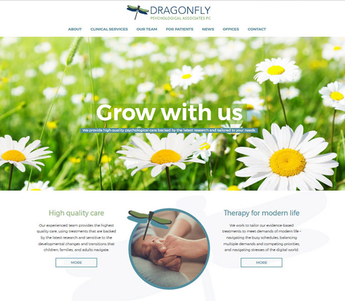 Dragonfly Psychological Associates - Psychological Care Website Design
