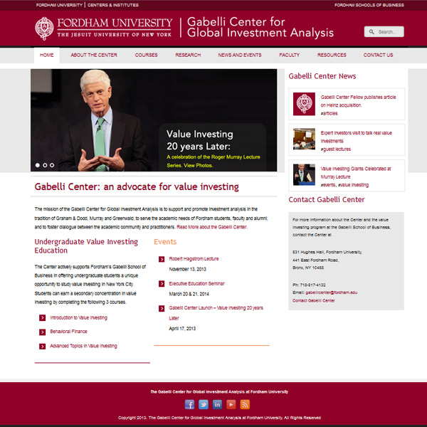 Fordham University Research Centers