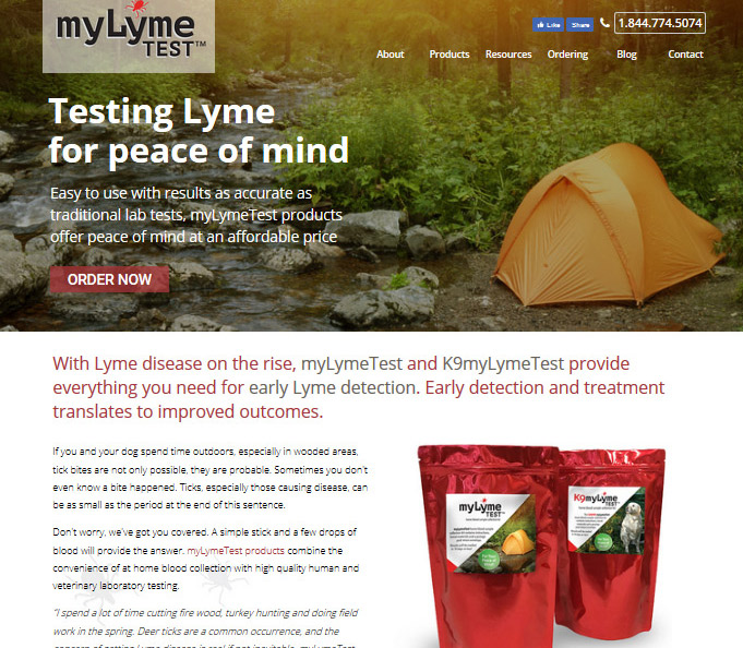myLymeChek - Specialty pharmaceutical Website Design