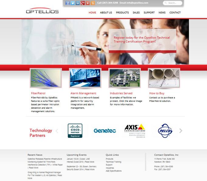 Optellios - Product Website Design