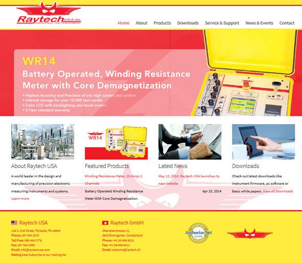 RAYTECH USA - Product Website Development & Design