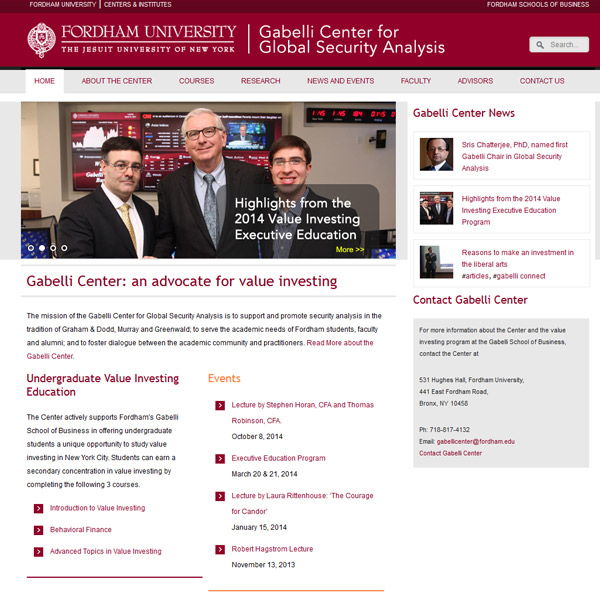 Fordham University - Web Design for University