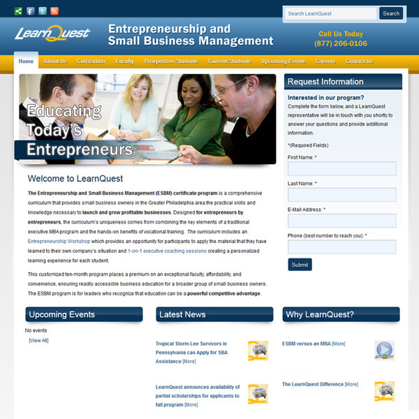 LearnQuest - Professional and Adult Education Webdesign