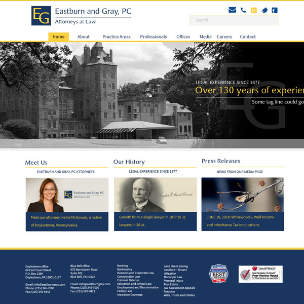 Eastburn & Gray PC - Professional Law Firm Branding and Web
