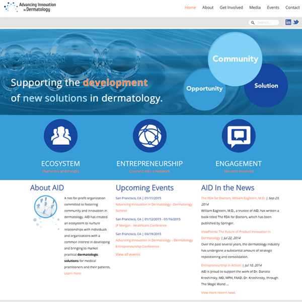Advancing Innovation in Dermatology - Nonprofit Branding and Web Design